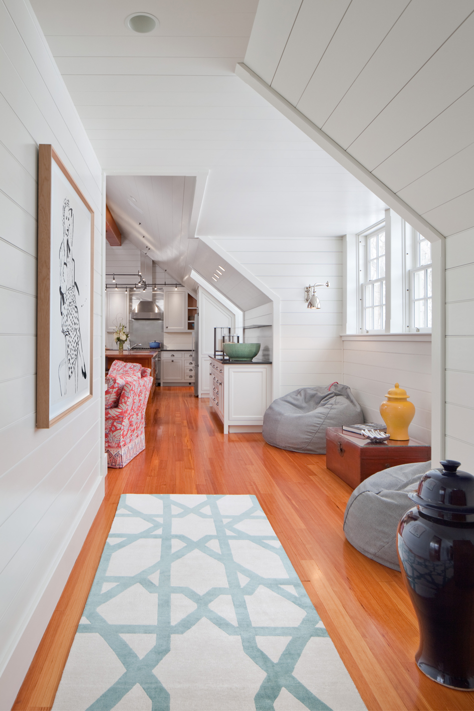new england casual living space design