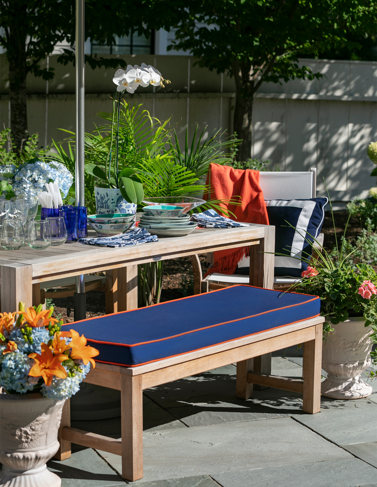 upholstered patio bench