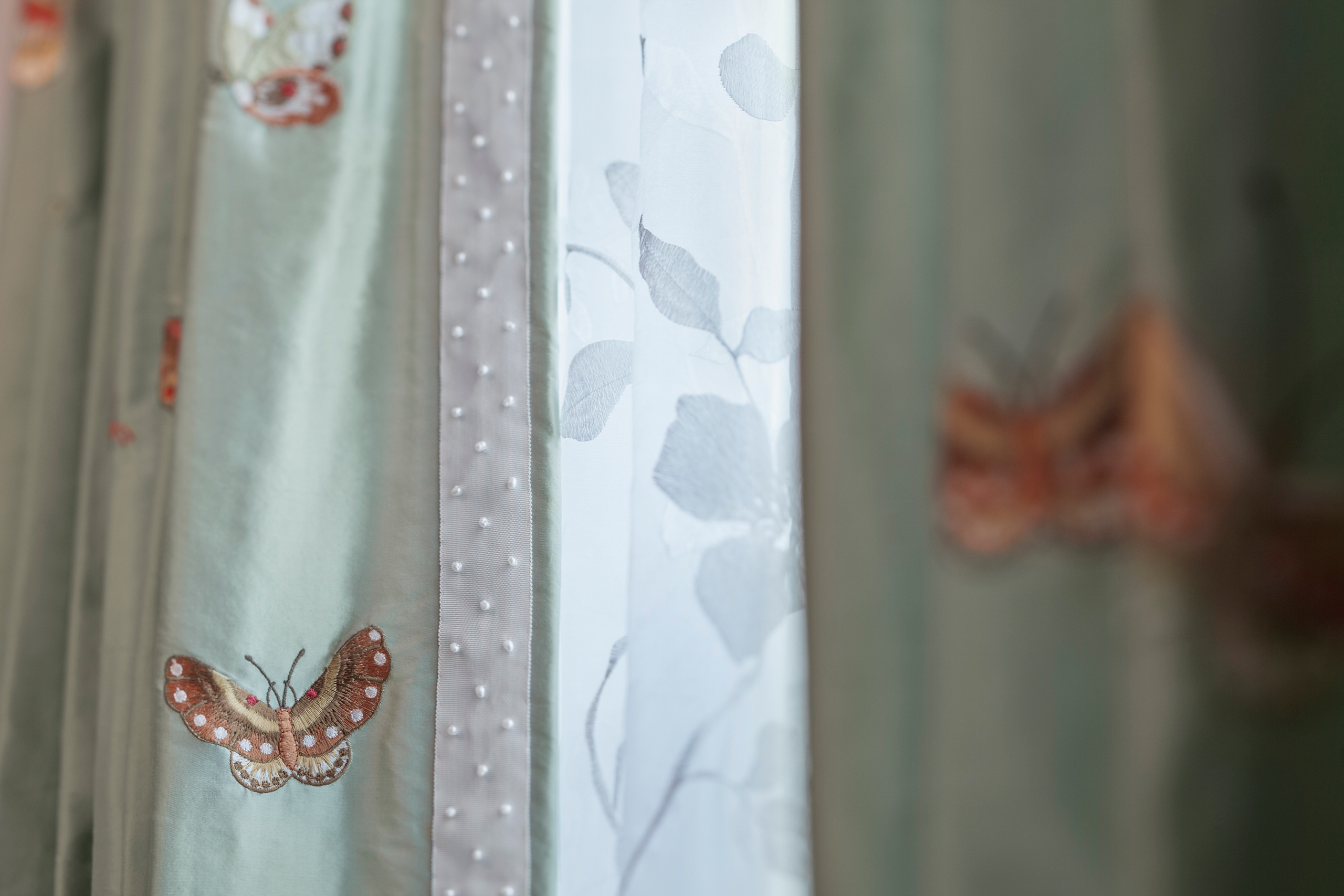 butterfly curtain detail