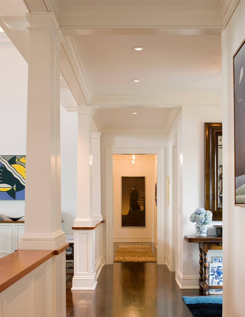 seaward cottage grand hallway