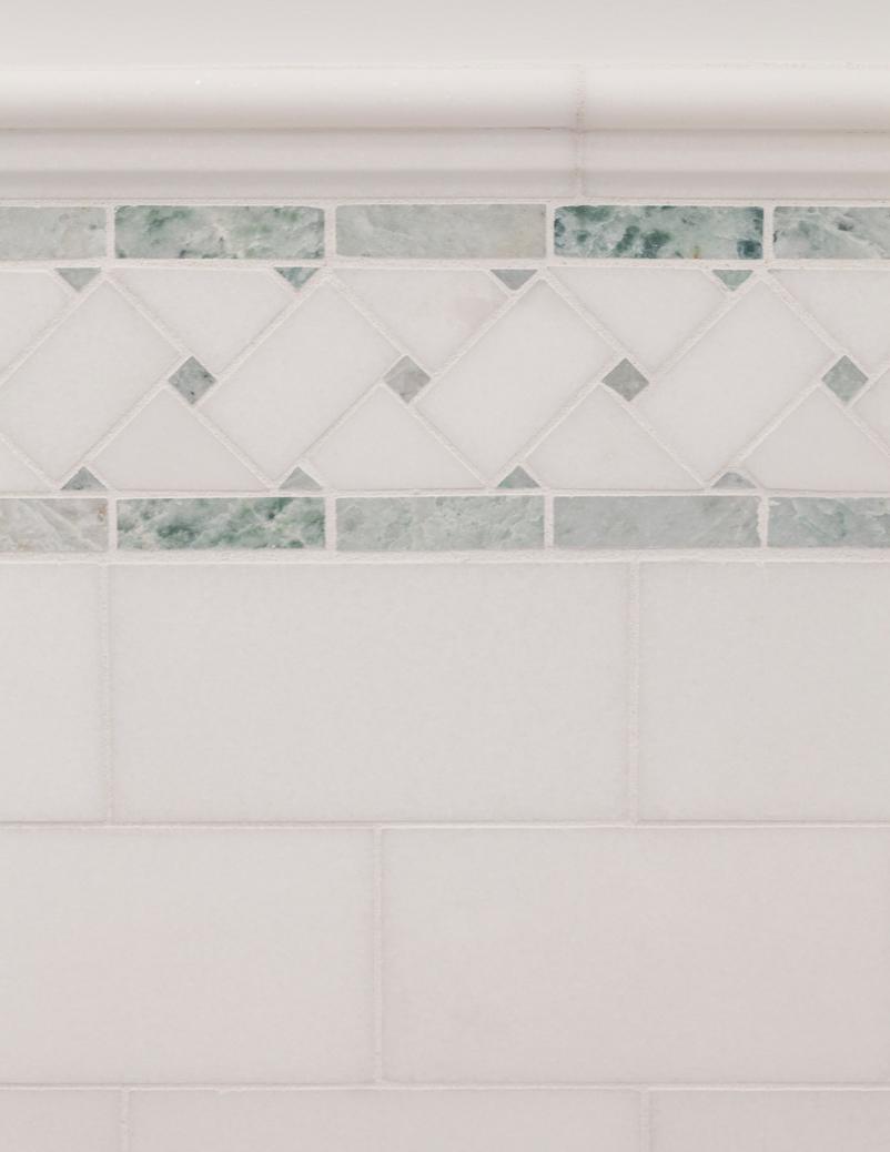 green tile detail