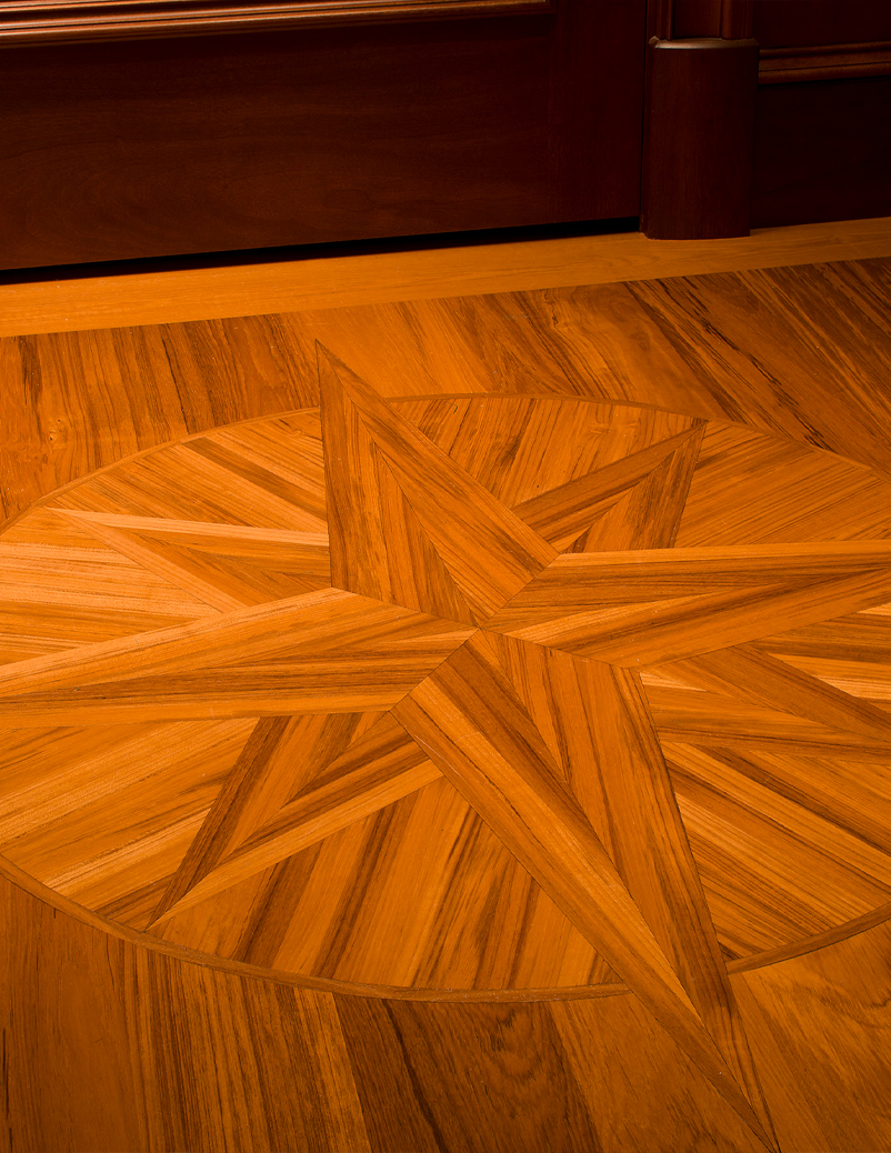 super yacht floor compass detail