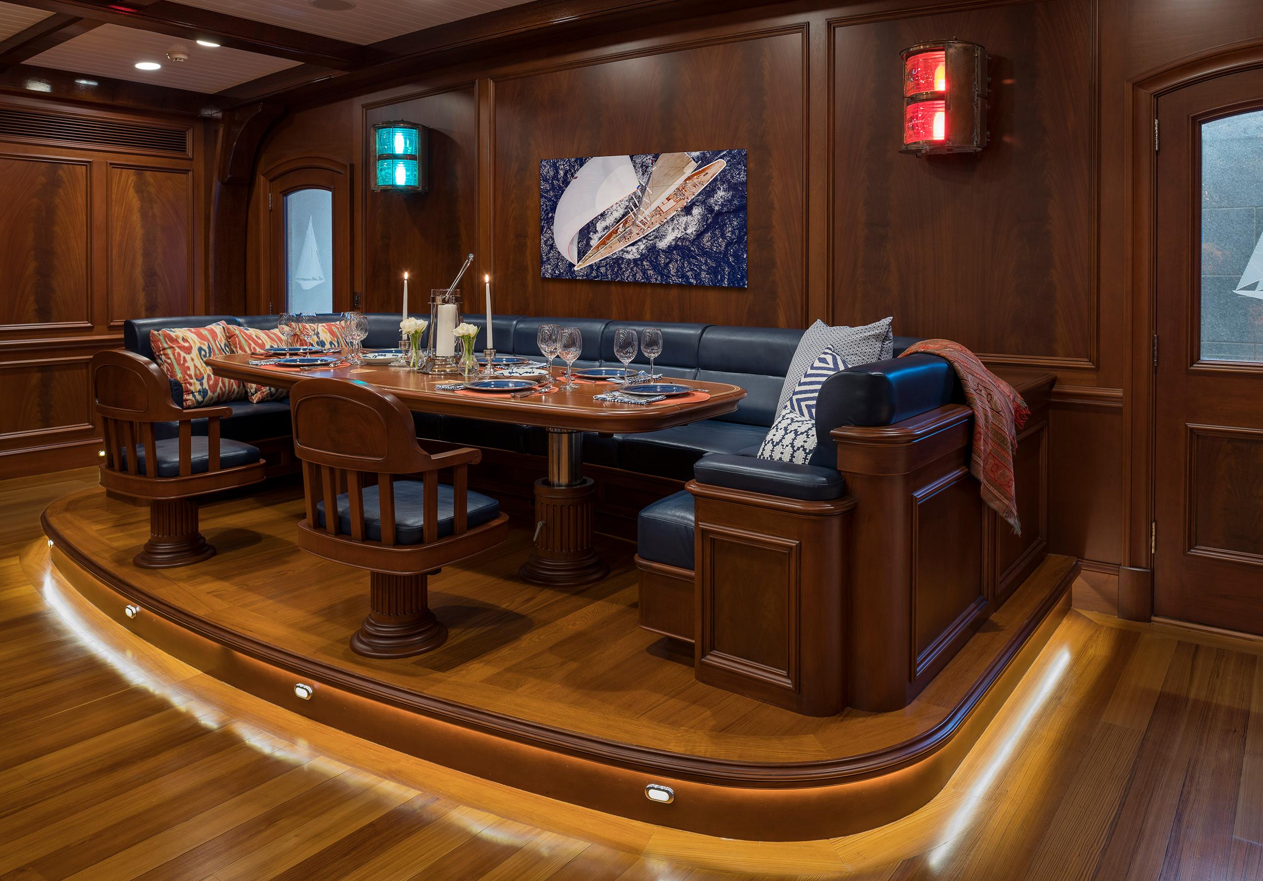 super yacht banquette