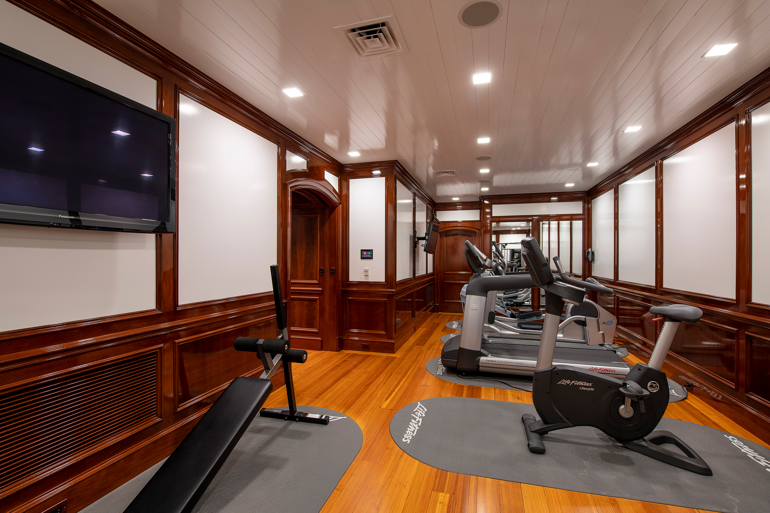 super yacht exercise room