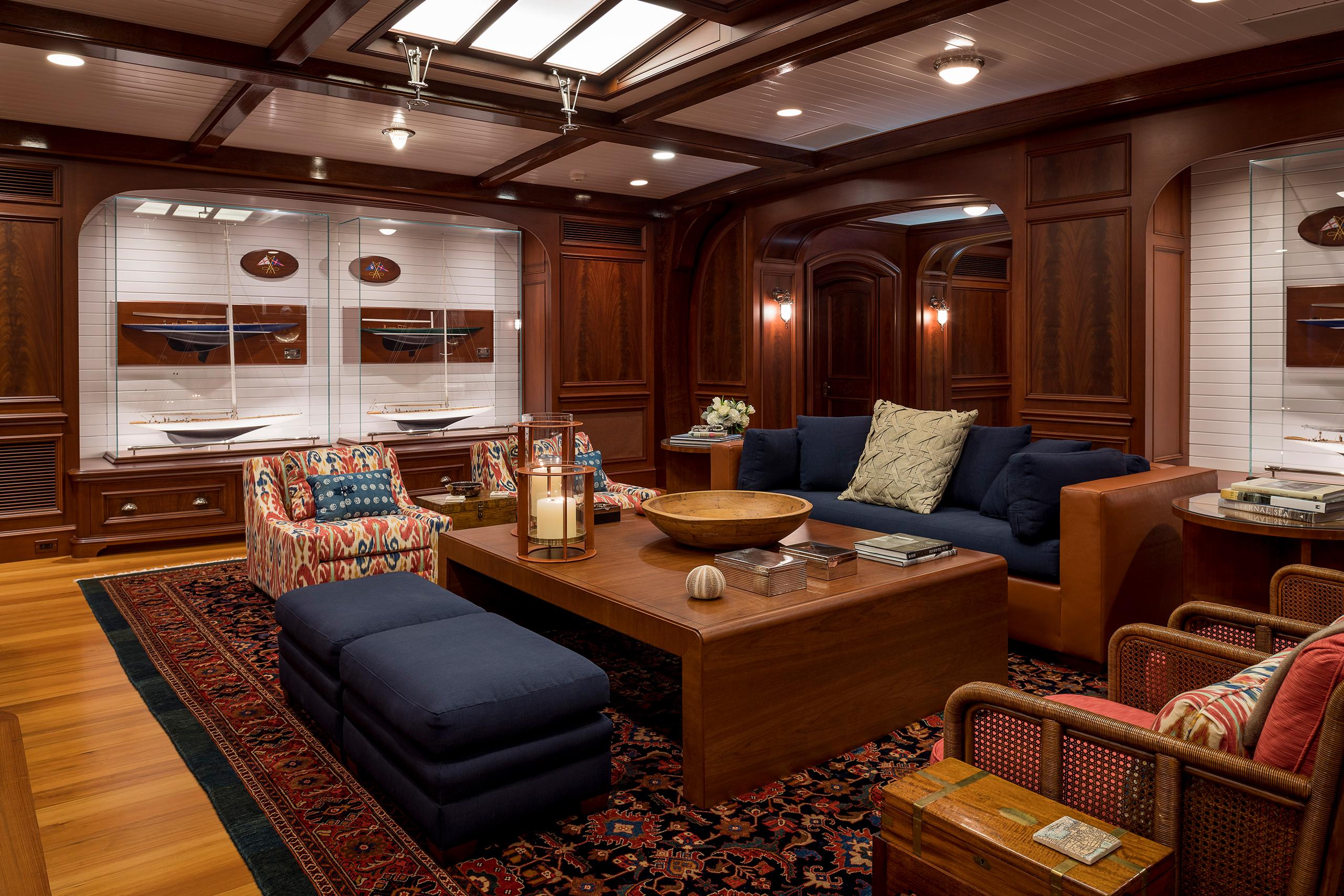 super yacht living room