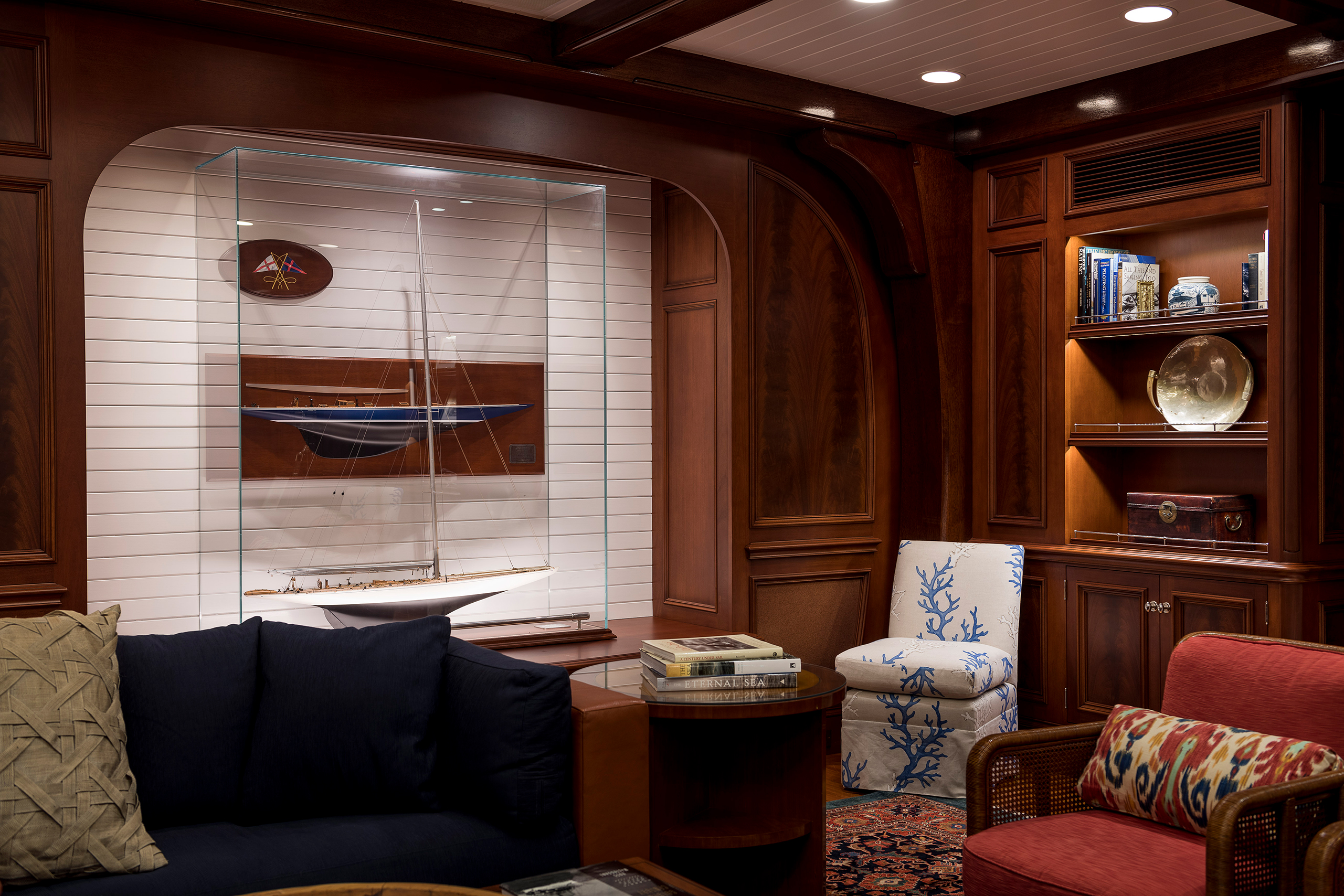 super yacht den seating