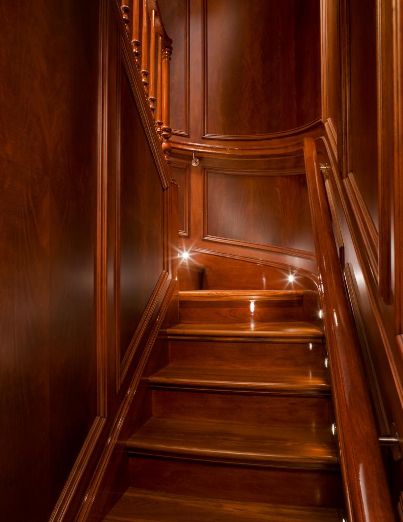 super yacht stairway